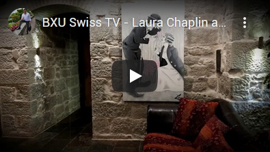 BXU Swiss TV - Laura Chaplin art exhibition at Schloss Sihlberg
