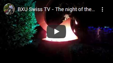 BXU Swiss TV - The night of the sculptures. Summer event 2019